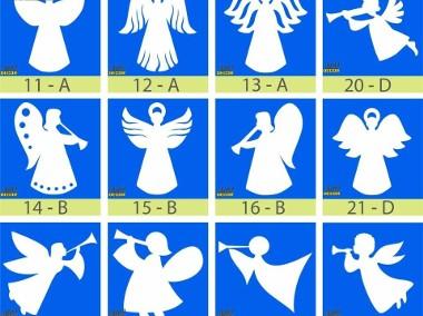 Aniołki Styropianowe, gwiazdki 24 cm - Boże Narodzenie Dekoracje-1