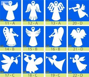 Aniołki Styropianowe, gwiazdki 24 cm - Boże Narodzenie Dekoracje