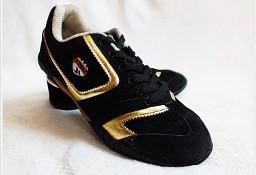 Eleganckie czarne buty sportowe damskie rozm. 38