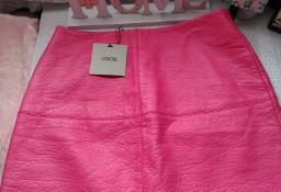 (36/S) ASOS/ Skórzana, różowa spódnica/ spódniczka z Londynu/skóra