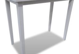 vidaXL Drewniany stolik barowy, biały 241701