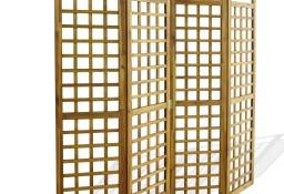 vidaXL Parawan pokojowy 4-panelowy/trejaż, drewno akacjowe, 160x170 cm 43799