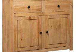 vidaXL Szafka, 93x40x80 cm, lite drewno sosnowe, seria Panama 282697