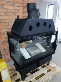 Kominek narożny wkład kominkowy DEFRO HOME INTRA ME BL 10 kW