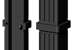 Łącznik plastikowy do profili aluminiowych typ I kolor czarny,składany,20x20x1,5