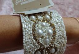 Hiszpańska, szeroka, bogato zdobiona bransoletka na rękę z Madrytu/ NOWA