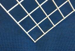 Siatka zgrzewana biała panel 1000x500 mm , 2 mm, oczko 25x25 mm.