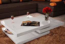 vidaXL 3-poziomowy stolik o wysokim połysku, biały241077