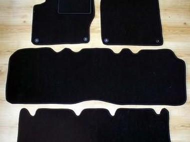 Ford Galaxy 1995 - 04.2006 3 rzędy najwyższej jakości dywaniki samochodowe z grubego weluru z gumą od spodu, dedykowane Ford Galaxy-1