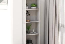 vidaXL 4-poziomowy regał na książki, betonowy szary, 40x24x142 cm800841