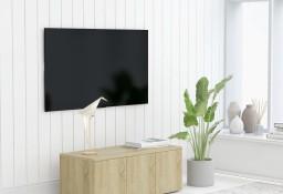 vidaXL Szafka pod TV, dąb sonoma, 80x34x30 cm, płyta wiórowa 801862
