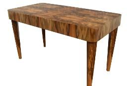 Stół prostokąt art deco biurko replika orzech