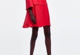 (36/S) ZARA/ Czerwona sukienka wieczorowa z Madrytu/ NOWA
