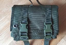 Mata strzelecka zielona myśliwska składana 198cm x 74cm kempingowa