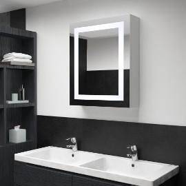 vidaXL Szafka łazienkowa z lustrem i LED, 50 x 13 x 70 cm285116