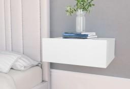 vidaXL Wisząca szafka nocna, biała, 40x30x15 cm800306