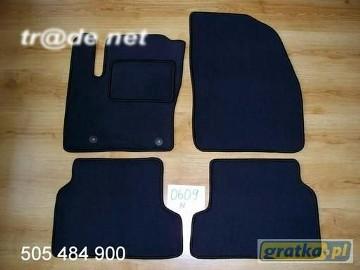 Ford Focus II FL od 2008r. najwyższej jakości dywaniki samochodowe z grubego weluru z gumą od spodu, dedykowane Ford Focus