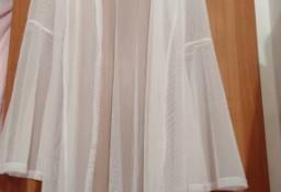 (38/M) Długa, biała narzutka plażowa/szlafrok/płaszcz plażowy/kimono/NOWY