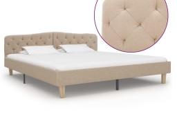 vidaXL Rama łóżka, beżowa, tkanina, 180 x 200 cm 284935