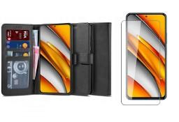 Etui Wallet 2 + Szkło Hartowane Płaskie do Xiaomi Poco F3