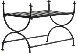 vidaXL Ławka w stylu vintage, metalowa, 83x42x55 cm, czarna 245940