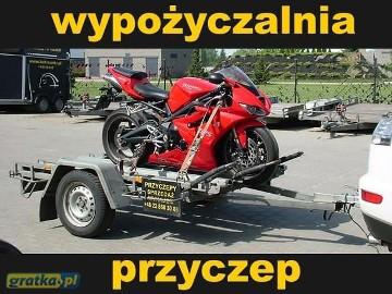 Przyczepa laweta do przewozu motocykli