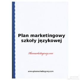 Plan marketingowy szkoły językowej