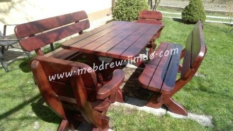 stół 2 ławy 2 fotele, komplet ogrodowy meble do ogrodu stolarz