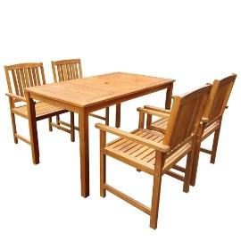 vidaXL 5-cz. zestaw mebli ogrodowych, lite drewno akacjowe 42622