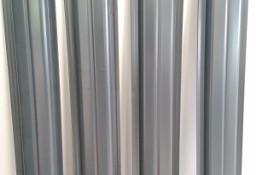 Sztachety w II gat.  na 1,2m w połysku w kolorze grafitowym - Stobierna