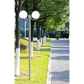 Lampa, latarnia ogrodowa, stojąca (220 cm) z dwoma kloszami 40390
