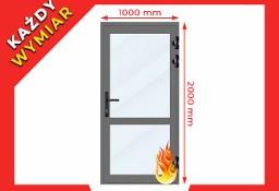 Drzwi Przeciwpożarowe PPOŻ EI30 Aluminiowe 100 x 200 cm - Na Każdy Wymiar