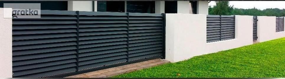 Brama przesuwna żaluzja profil 80x20 1,5mx4m ocynk+kolor P12h