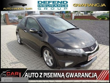 Honda Civic VIII Type S 1.8 140PS Navi Panorama Czarna Automat Śliczna Gwarancja