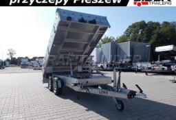 TM-178 przyczepa 304x153x30cm, wywrotka 3015/2C, kipper jednostronny na tył, burty aluminiowe, pompa elektryczna, DMC 2700kg