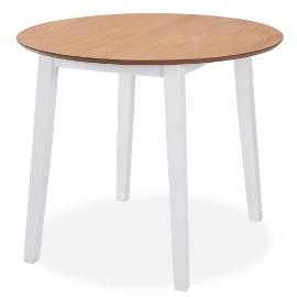 vidaXL Stół jadalniany ze składanym blatem, okrągły, MDF, biały245370