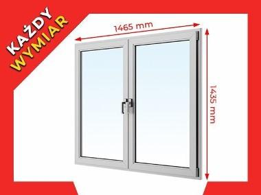 OKNA okno PCV ALUPLAST dwustronny kolor 1465x1435 WYCENA GRATIS!-1