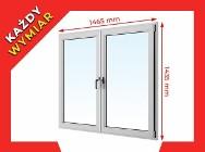 OKNA okno PCV ALUPLAST dwustronny kolor 1465x1435 WYCENA GRATIS!