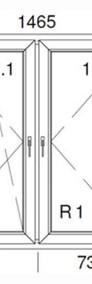OKNA okno PCV ALUPLAST dwustronny kolor 1465x1435 WYCENA GRATIS!-4
