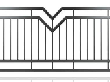 Przęsło ogrodzeniowe, nowoczesny design, panel ogrodzeniowy D-09-1