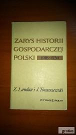 zarys historii gospodarczej Polski Landau Tomaszewski