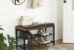 Szafka / regał na buty z miękkim siedziskiem. Styl industrialny, loft