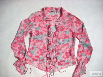 Per Una Bluzka Koszula Zwiewna Falbanka Kwiaty 38 40