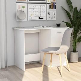 vidaXL Biurko, białe, 100x50x76 cm, płyta wiórowa801080