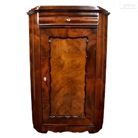 Komoda narożna w stylu biedermeier, stary kątnik antyk po renowacji.