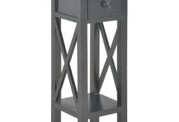 vidaXL Stolik boczny, czarny, 27x27x65,5 cm, drewniany280059