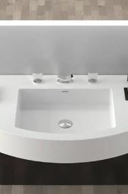Meble łazienkowe na wymiar, szafki pod umywalkę, blaty Corian, Staron-2