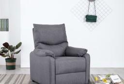 vidaXL Rozkładany fotel telewizyjny, jasnoszary, tapicerowany tkaniną248686
