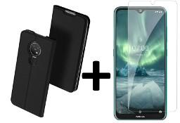Etui Dux Ducis + szkło do Nokia 6.2 / 7.2 czarny