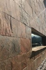 Miedziany łupek na elewację / kamień elewacyjny / ozdobny kamień na ścianę-2